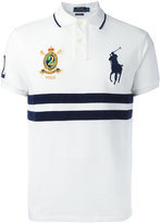 Polo Ralph Lauren embroidered trim striped polo shirt - men - Cotton - S