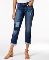 NYDJ Jessica Patched Uzes Wash Boyfriend Jeans