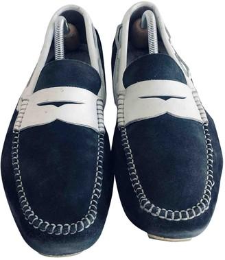 Dolce & Gabbana Navy Suede Flats
