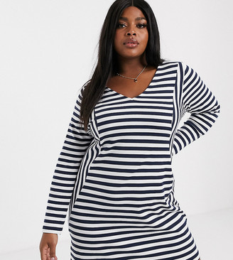 Junarose stripe shift dress