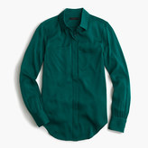 J.Crew Petite silk pocket blouse