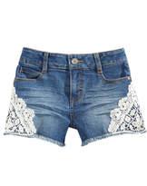Epic Threads Crochet-Trim Denim Shorts, Big Girls, Created for Macy's