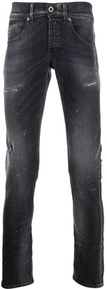 Dondup Low Rise Distressed Skinny Jeans