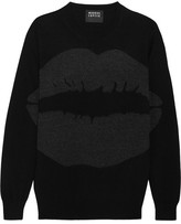 Markus Lupfer Natalie Intarsia Metallic Wool Sweater - Black