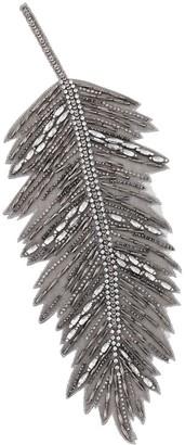 Haider Ackermann Crystal Leaf Lapel Pin