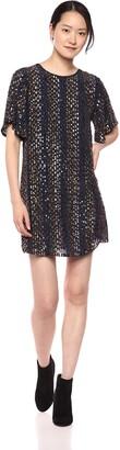 Velvet by Graham & Spencer Women's Vivi Stripe Sequins Dress