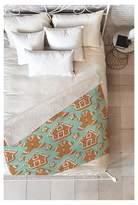 """Deny Designs Blue Novelty Sabine Reinhart Christmas Kitchen Sherpa Throw Blanket (50""""X60"""