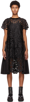 Sacai Black Paisley Lace Dress