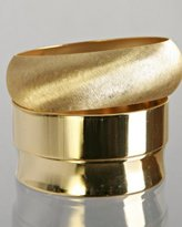 set of 3 - matte and polished gold bangles