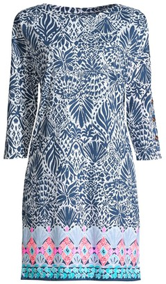 Lilly Pulitzer Vivvy Print Three-Quarter Sleeve Shift Dress