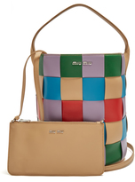 Miu Miu Patchwork leather tote