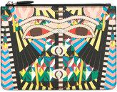Givenchy medium Crazy Cleopatra printed pouch - men - Cotton/Polyester/Polyurethane - One Size