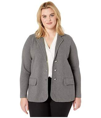 Lauren Ralph Lauren Plus Size Sweater Knit Blazer