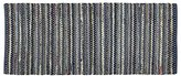Crate & Barrel Pinstripe Indigo 2.5'x6' Rug Runner