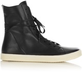 Rick Owens High-top Leather Trainers