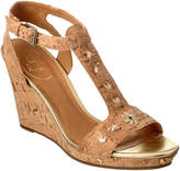 Jack Rogers Willa Leather & Cork Wedge Sandal