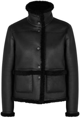 Tory Burch Black Reversible Shearling Jacket