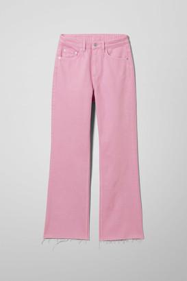 Weekday Mile Pink Cropped Jeans - Pink