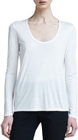 The Row Scoop-Neck Classic Tee, White