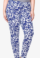 Forever 21 City-Chic Floral Skinny Jeans