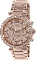 Michael Kors Women's Parker MK5857 Rose Stainless-Steel Quartz Watch