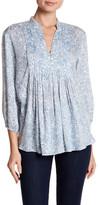 Casual Studio 3/4 Sleeve Pleated Blouse