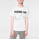 Paul Smith Women's White 'Hang-Up' Print Cotton T-Shirt