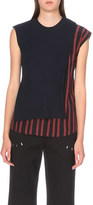 3.1 Phillip Lim Ruffled striped stretch-wool and silk top