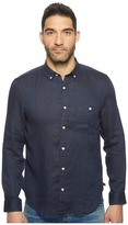 7 For All Mankind Long Sleeve Linen Oxford Shirt Men's Long Sleeve Button Up