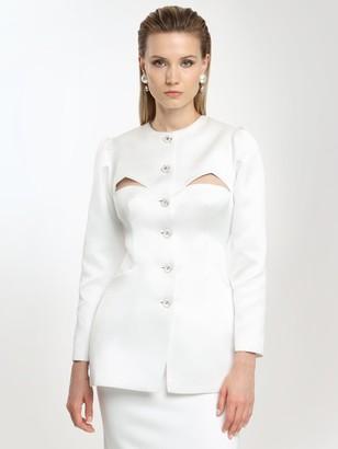 Sandra Mansour Mikado Techno Jacket W/cut Outs