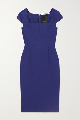 Roland Mouret Jeddler Stretch-crepe Dress - Navy