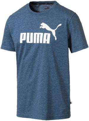 Puma Logo Short-Sleeve Heathered Tee