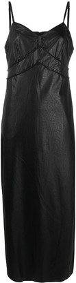 MM6 MAISON MARGIELA Faux-Leather Trimmed Dress