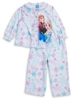 AME Sleepwear Little Girl's Two-Piece Anna and Elsa Pajama Top and Pants Set