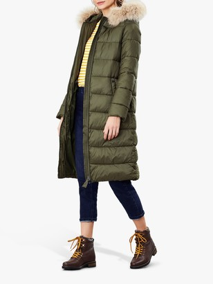 Joules Touchline Padded Coat with Removable Fur Trim