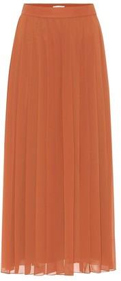 The Row Magda crepe pleated midi skirt