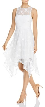 Adrianna Papell Lace Handkerchief Hem Dress
