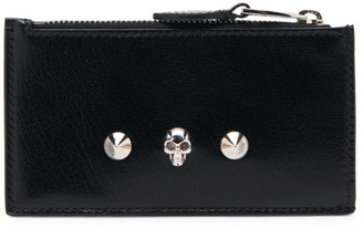 Alexander McQueen Small Skull Leather Zippered Card Holder