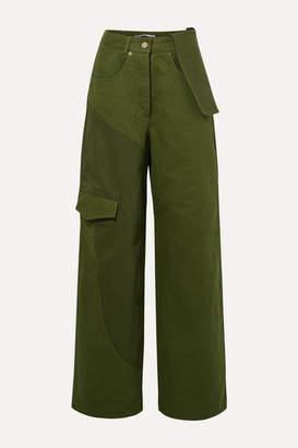 Jacquemus Le Jean De Nimes Mid-rise Wide-leg Jeans - Forest green