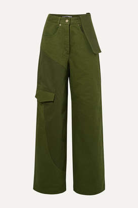 Jacquemus Nimes Mid-rise Wide-leg Jeans - Forest green