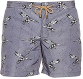 THORSUN Bird-print swim shorts