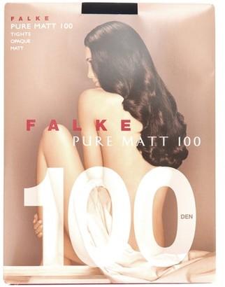 Falke Pure Matte 100 Denier Tights - Black