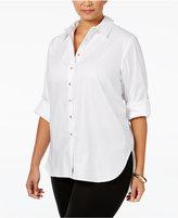 Calvin Klein Plus Size High-Low Tunic Shirt