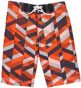 Gymboree Orange Geometric Boardshorts - Boys