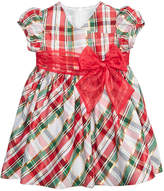 Bonnie Baby Plaid Taffeta Dress, Baby Girls