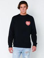 Deus New Mens Beating Heart Crew Jumper In Black T Shirts Short Sleeve