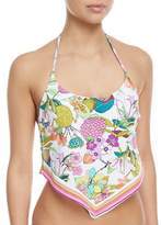 Trina Turk Key West Botanical-Print Tankini Swim Top