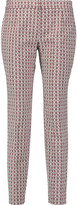 Tory Burch Cotton-blend stretch-jacquard skinny pants