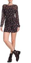 AllSaints Rylie Floral Long Sleeve Mini Dress