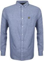 Lyle & Scott Long Sleeve Cotton Linen Shirt Blue
